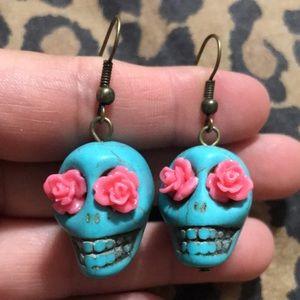Turquoise Stone Sugar Skulls
